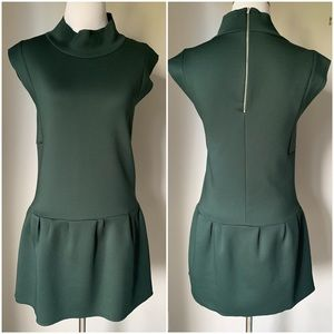 Zara Mock Neck Scuba Dress